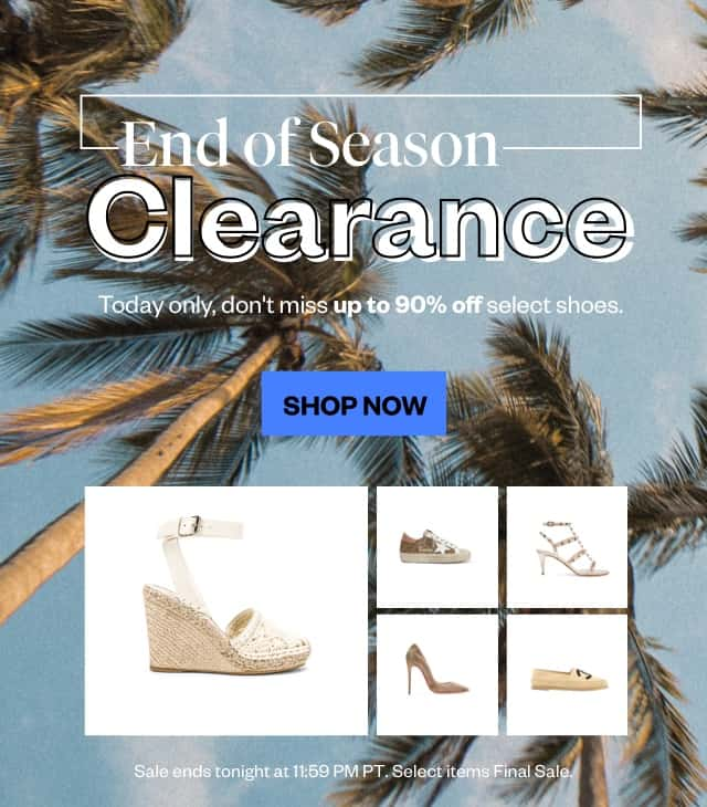 End-of-Season Clearance: Shoes