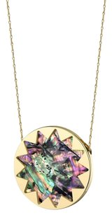 House of Harlow 1960 House of Harlow 1960 Sunburst Abalone Gold Pendant Necklace
