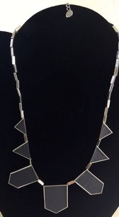 House of Harlow 1960 House Of Harlow Five Station Geometric Silver Tone Necklace 36