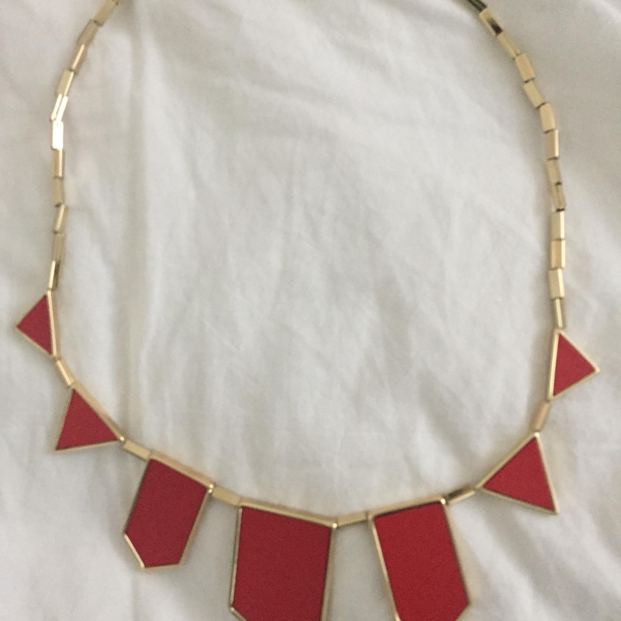 House Of Harlow 1960 Red And Gold Art Deco ...