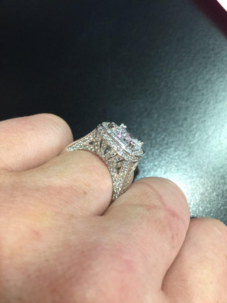 Huge 8 Karat Engagement Diamond Vintage Luxury Size 8 Ring Tradesy