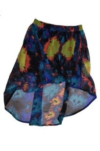 Hurley Multi Abstract Floral Skirt Multi-Color