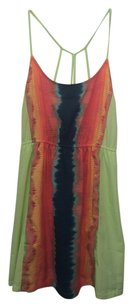Hurley short dress Lime, blue, coral, and yellow patterned Summer Colorful on Tradesy