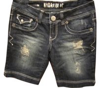 Hydrolic Short Bermuda White Bermuda Shorts Dark wash Denim