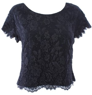 I. Magnin & Co Vintage Lace Top Black
