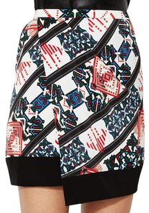 ICB Print Wrap Edgy Mini Skirt Multi