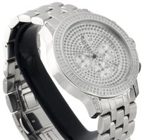 IceTime Mens Icetime Diamond Watch 45mm Case Crushed Illusion Dial Pe-01 Prince 1 Ct