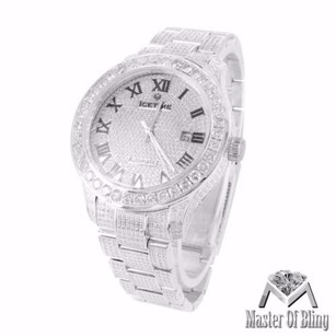 IceTime Mens Joe Rodeo Jojo Datejust Roman Dial 11ct Genuine Diamond Icetime 47mm Watch