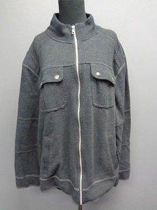 INC International Concepts Smoky Cotton Blend Full Zip Sma6959 Gray Jacket