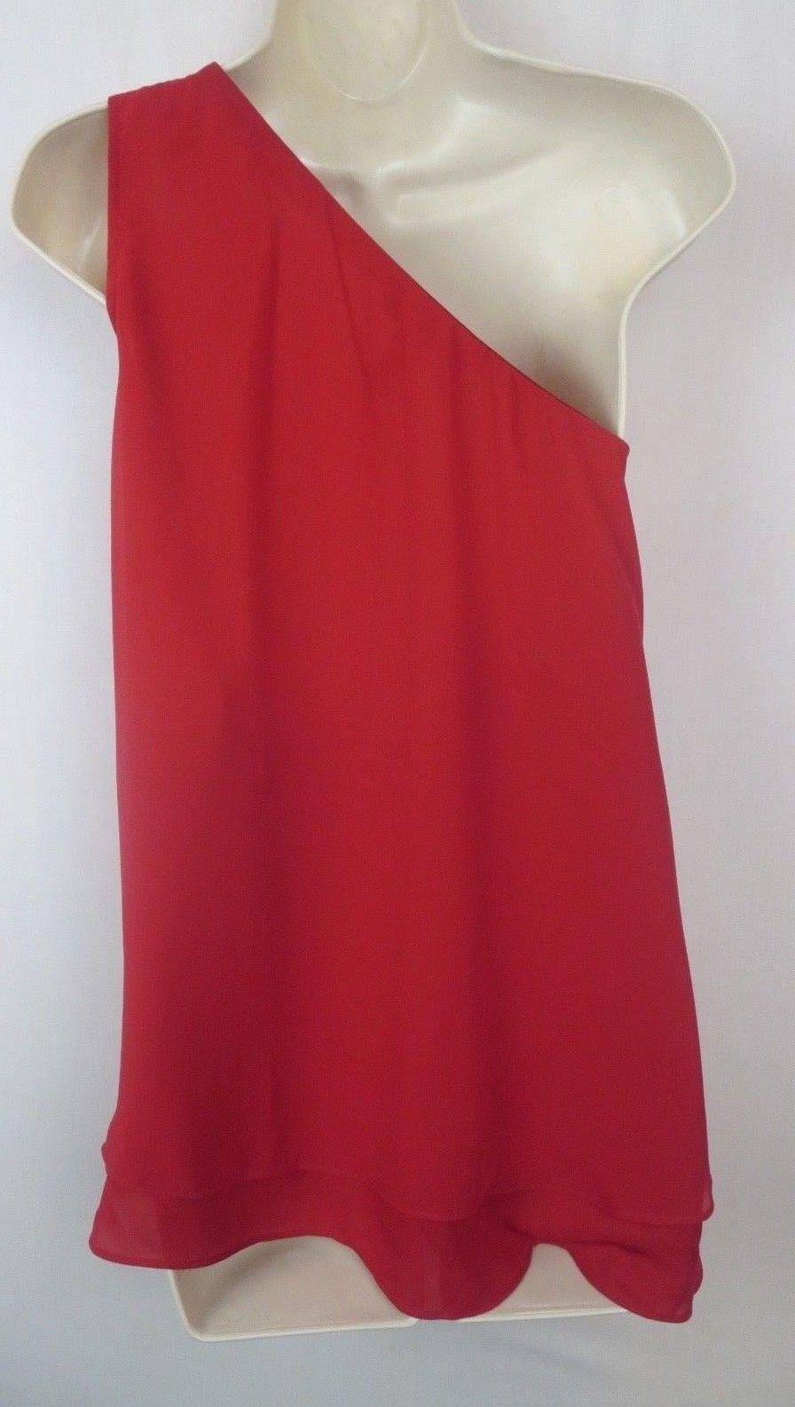 Red One Shoulder Blouse