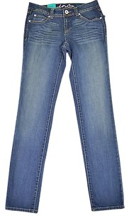 INC International Concepts 63 49 Denim Blue Queen Skinny Jeans
