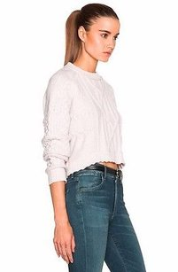 Inhabit Cable Knit Cashmere Carlie Cropped 220950aj Sweater