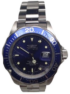 Invicta Invicta 9308 Mens Pro Diver Blue Dial Steel Bracelet Swiss Quartz Watch Broken