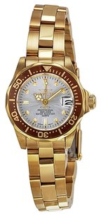 Invicta INVICTA Pro Diver Silver Dial Gold-tone Stainless Steel Ladies Watch IN12525
