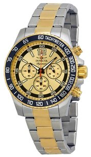 Invicta INVICTA Signature II Chronograph Gold Dial Two-tone Men's Watch IN7408