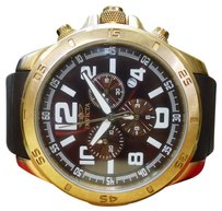 Invicta Invicta Mens 1917 Specialty Chronograph Brown Dial Brown Polyurethane Watch