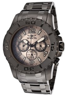 Invicta Mens Invicta 15024 Pro Diver Chronograph Grey Steel Bracelet Watch