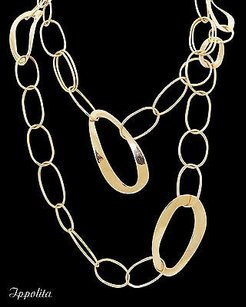 Ippolita Ippolita 18k Rose Gold 39 Long Oblong Links Sculptura Necklace N375