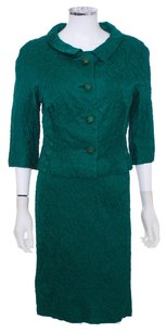 Ira Rentner New York Vintage Emerald Wiggle 50's Evening Couture 2 Pc Dress
