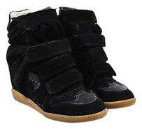 Isabel Marant Suede Black Platforms