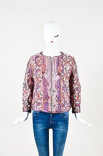 Isabel Marant White Red Multi-Color Jacket