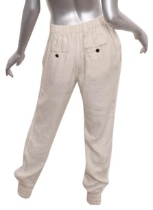 Isabel Marant Etoile Womens Linen Pleated Cuffed Trousers 364 Pants