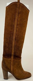 Isabel Marant Camel Delphia French Suede Leather Cowboy Eu37 Brown Boots