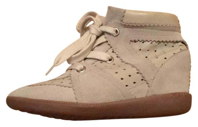 Isabel Marant Cream Wedge Sneaker Sneakers Size US 6 Regular (M, B)