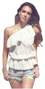 Isabel Marant One Shoulder Top White
