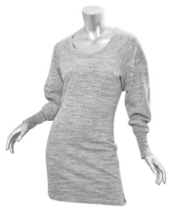 Isabel Marant short dress Gray Womens Heather Cotton Knit Sweater Tunic on Tradesy