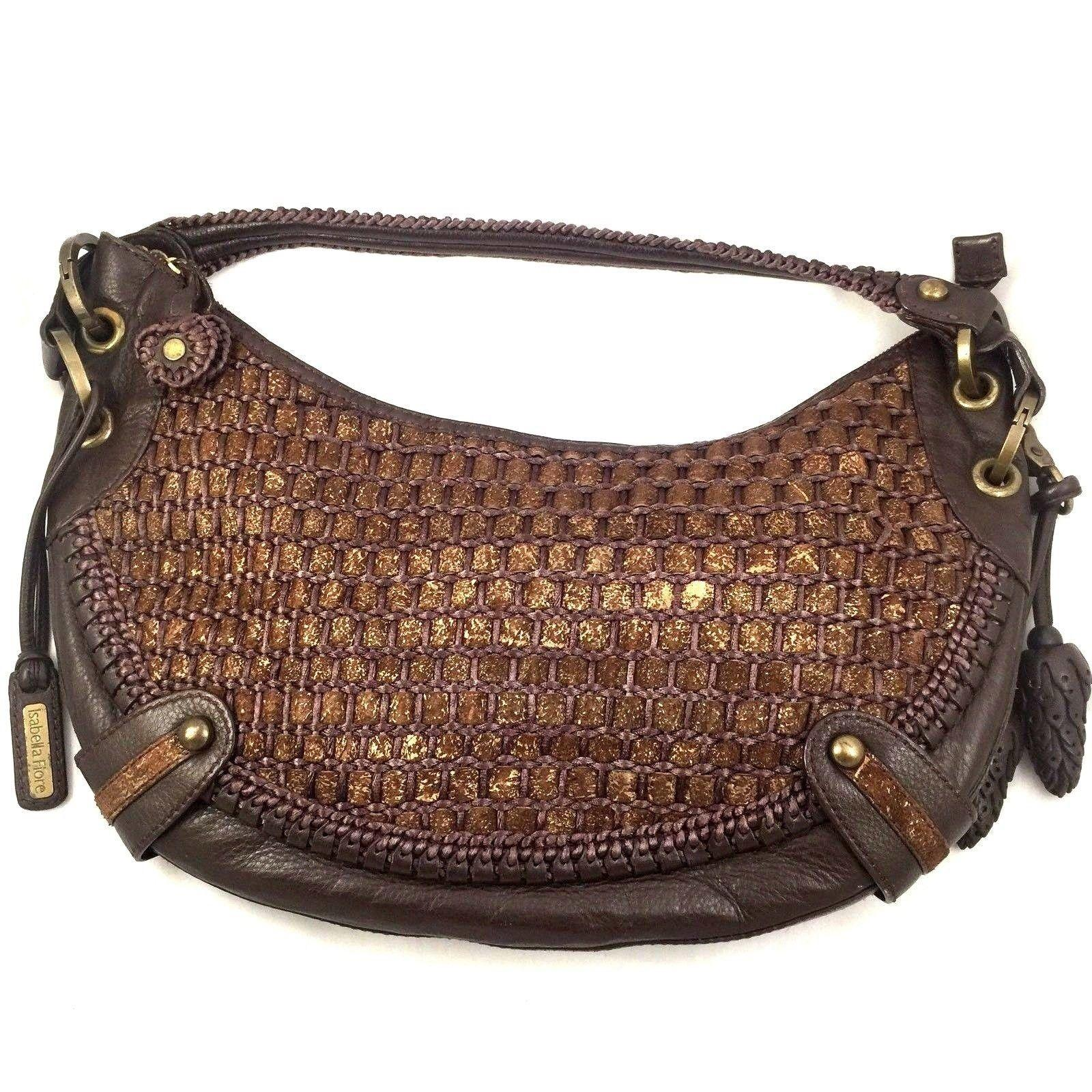 Isabella fiore handbag purse braided woven brown leather shoulder jpg  960x960 Isabella fiore handbags 4d13097ee35ce