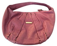 Isabella Fiore Leather Distressed Hobo Bag
