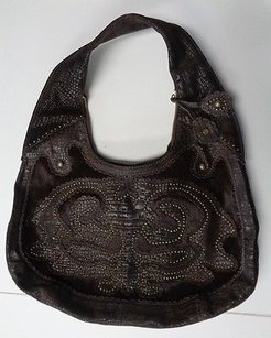 Isabella Fiore Textured W Gold Hardware Leather B3257 Shoulder Bag