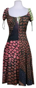 ISSA London Womens Printed Sheath Med Silk Casual Dress