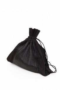 Issey Miyake Pleats Please Black Messenger Bag