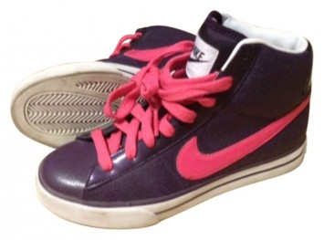 nike purple pink athletic brs high tops size 7 65