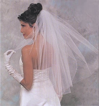 Iful New 2-tier White Veil With