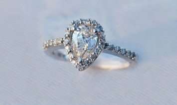 Brilliant Cut Pear Diamond Engagement