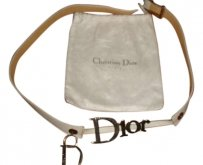 Christian Dior Christian Dior White Leather Waist Belt