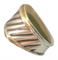 David Yurman Authentic David Yurman Sterling & 14k gold Cigar Band Ring