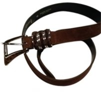 Brown Leopard Suede Belt