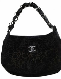 Chanel Vintage Suede Shoulder Bag