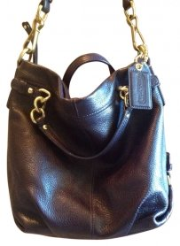 Coach Leather Violet Hobo Bag