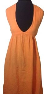 Calypso St. Barth short dress Orange Hamptons Beach Halter on Tradesy