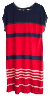 Jason Wu short dress Red and Navy Stylish Comfortable Striped on Tradesy