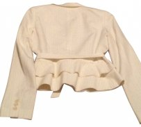 Laundry by Shelli Segal cream with pinstripe Blazer