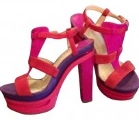 Gianni Bini fushia, purple, red Platforms