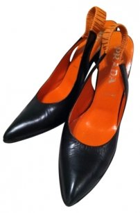 Prada Black/Orange Pumps