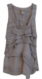 Anthropologie Top Grey & Cream