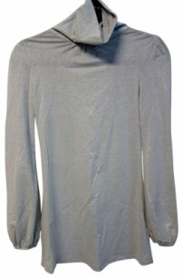Boutique Top Silver/Grey